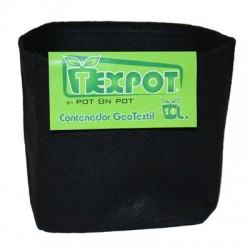 Maceta Tex Pot Negra 10 L